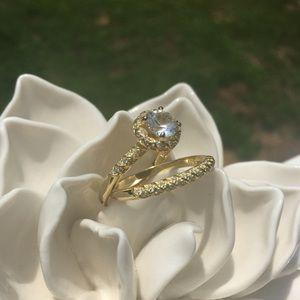 Women's 2 Piece Bridal Ring Set Size 12